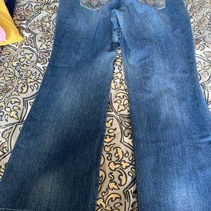 Wide legged jeans!